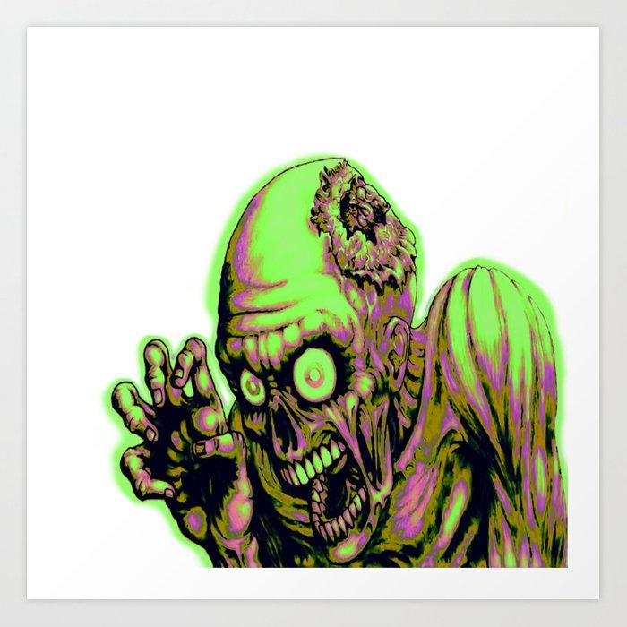 700x700 Zombie Glow Art Print