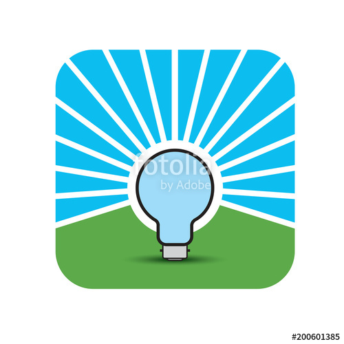 500x500 Bulb With Reverse Glow Or Bright In Black Vector Drawing Stock
