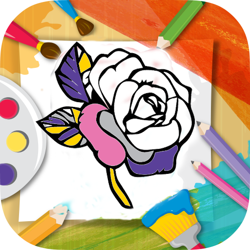 512x512 Drawing Flowers For Android