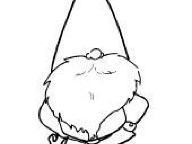 Christmas Gnome Clipart Black And White.Gnome Drawing Free Download Best Gnome Drawing On