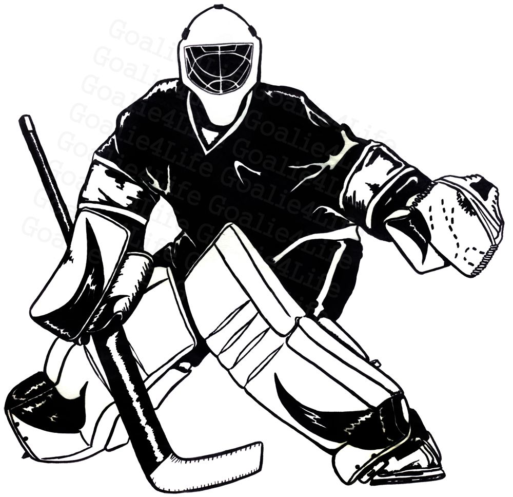 1000x968 image result for hockey goalie outline hockey hockey, hockey