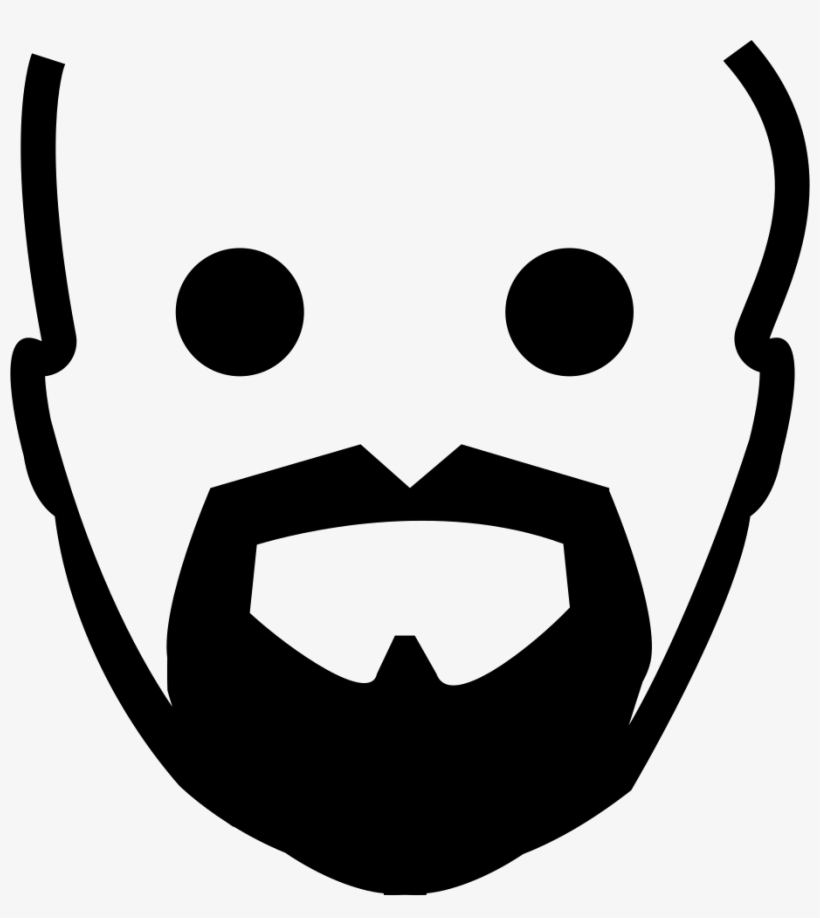 820x918 Clip Art Black And White Download Beard Clipart Goatee