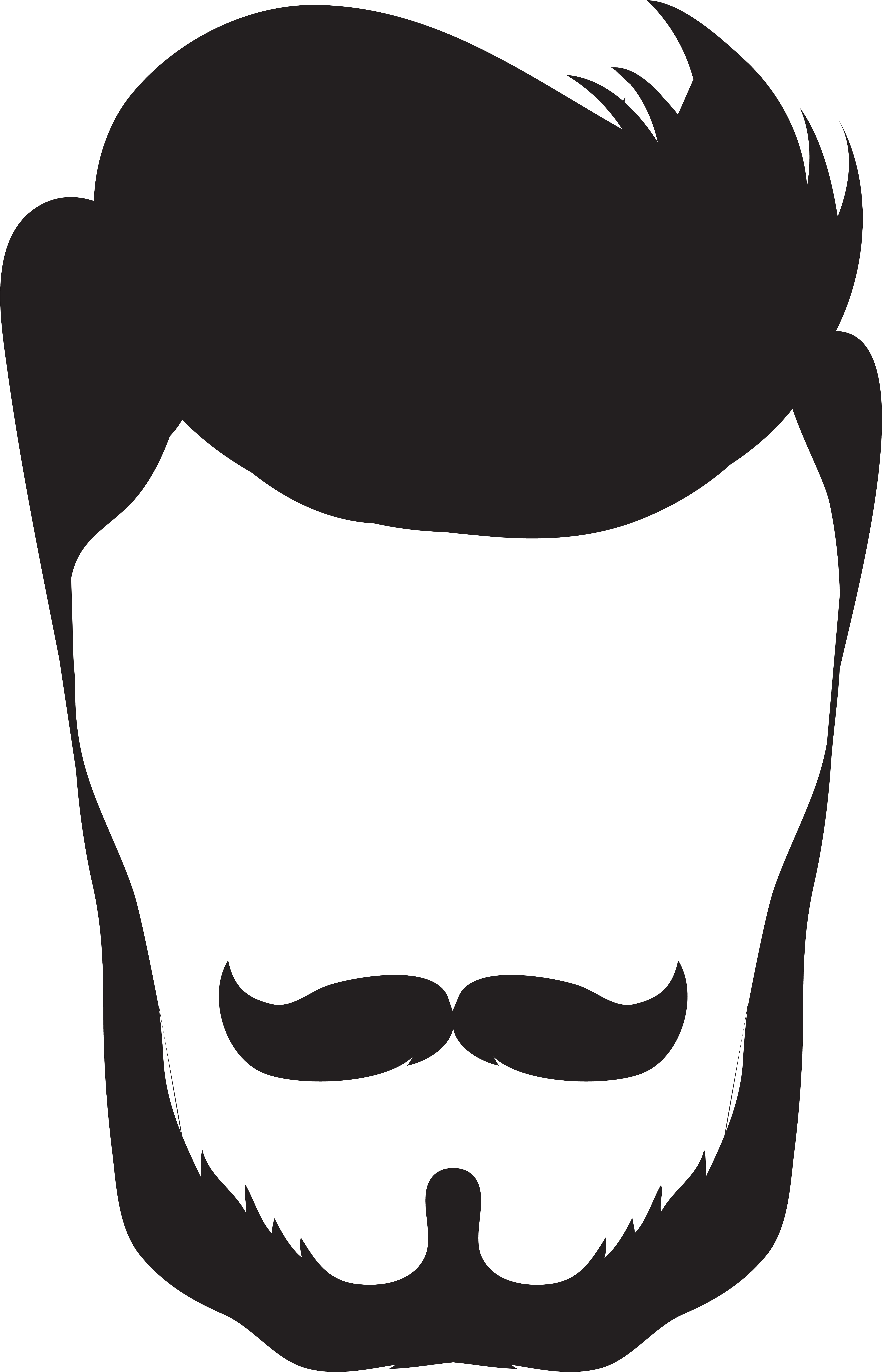 5047x7849 Goatee Drawing Simple Clipart Black And White