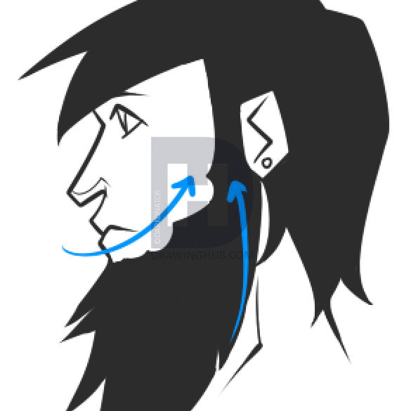 585x585 How To Draw Beards, How To Draw A Beard, Step