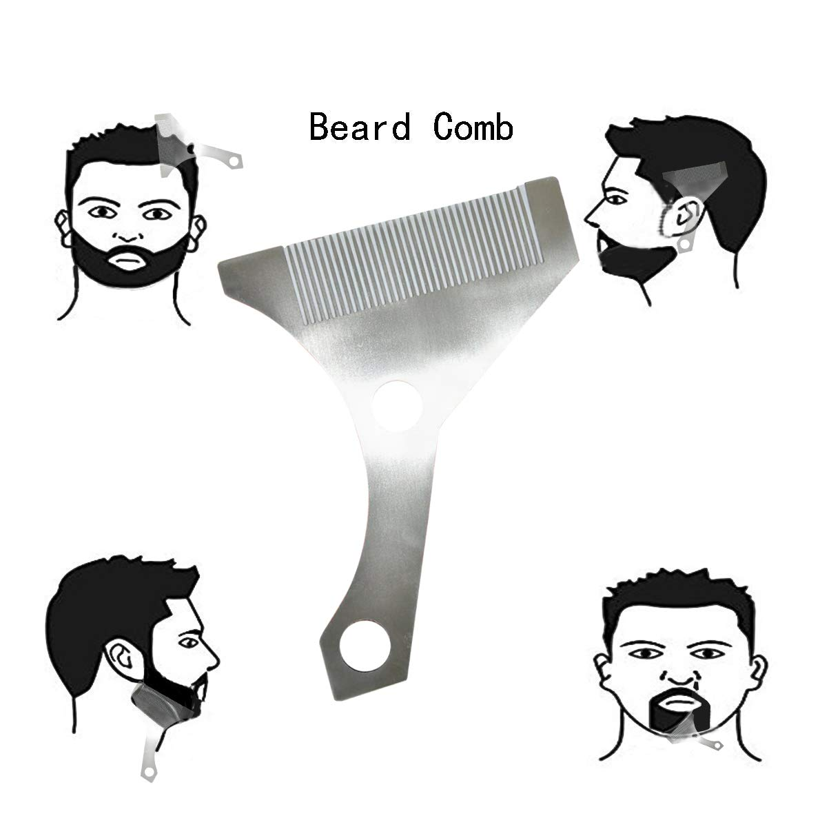 1219x1219 Markkeer Beard Shaping Styling Tool With Inbuilt