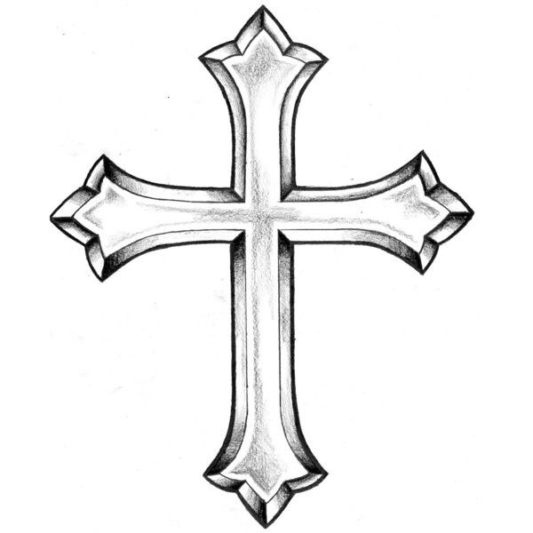 600x600 Drawing God Cross For Free Download