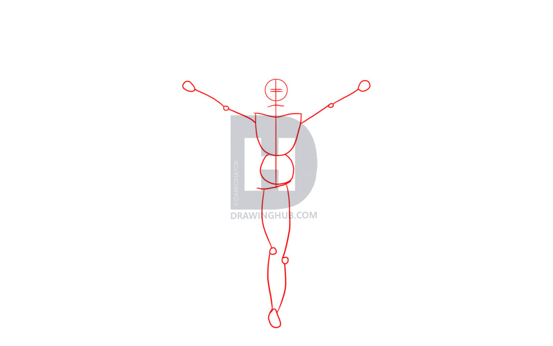 1080x675 How To Draw Jesus On The Cross, Step