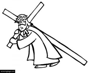 300x248 Ideas Collection Jesus Carrying Cross Drawing