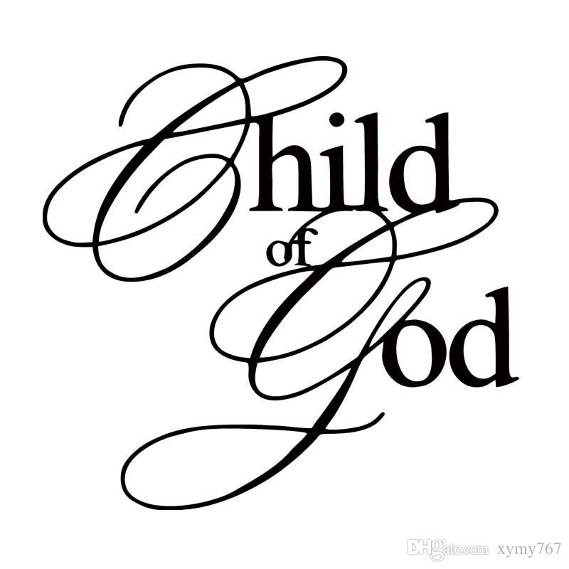 800x800 For Child Of God Vinyl Decal Car Styling Art Sticker Car