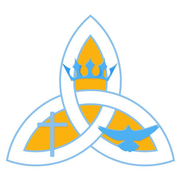 600x600 vector illustration for christian community holy trinity trinity