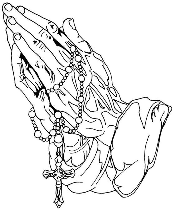 564x675 Hands Praying To God With Rosary And Cross Of Jesus Christ