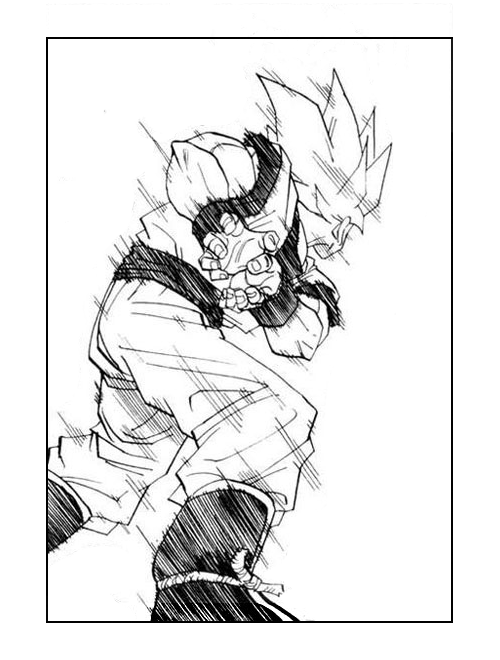 Goku And Vegeta Drawing