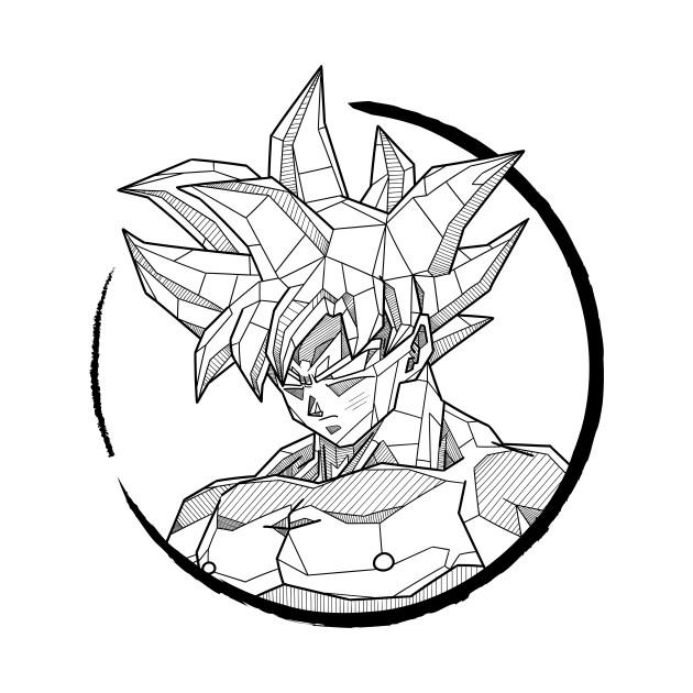 630x630 Geometric Goku