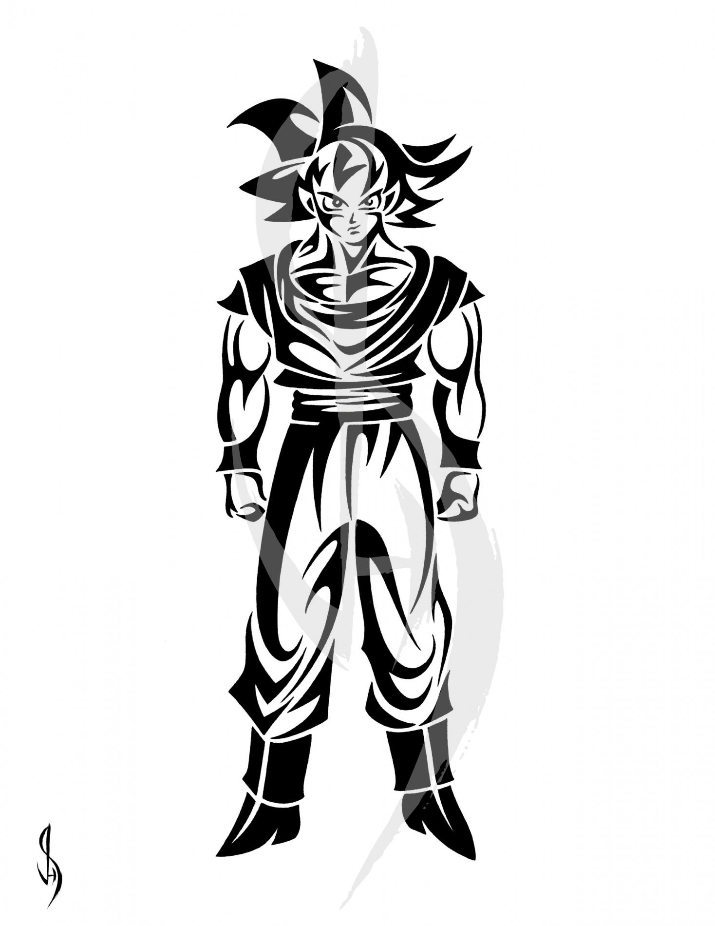 1468x1900 Goku Clipart Tribal