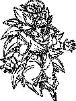 265x350 Goku Super Saiyan Lineart