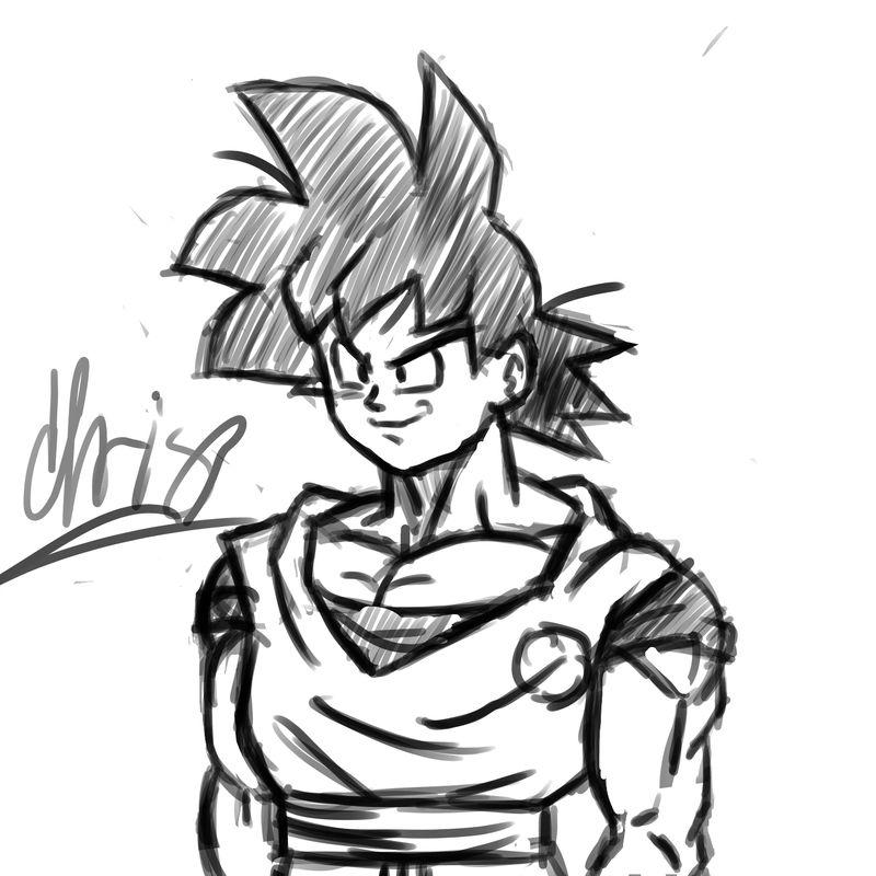 800x800 Goku Sketch