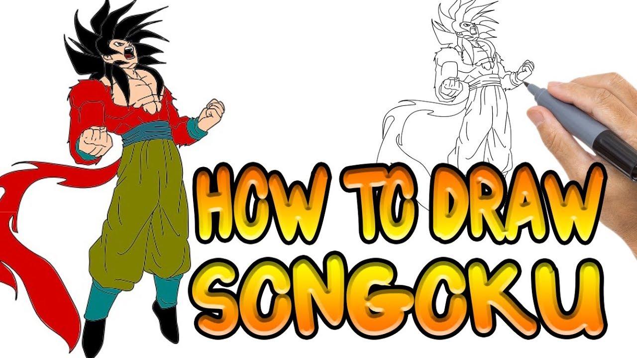 1280x720 How To Draw Goku Step
