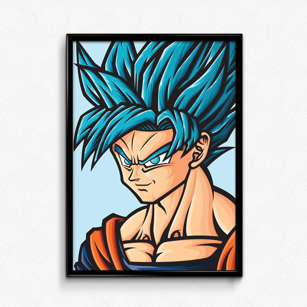 1000x1000 Orozco Design Store Dragon Ball Super Ssjb Goku