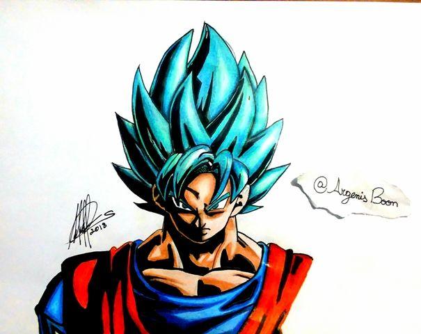 605x480 Painting Of Goku