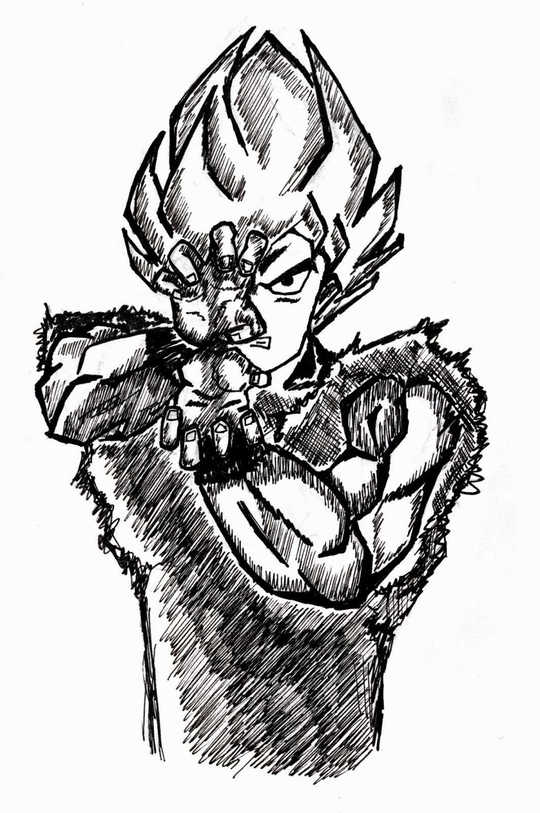 1063x1600 Super Saiyan Goku!!! Studio Inkscape