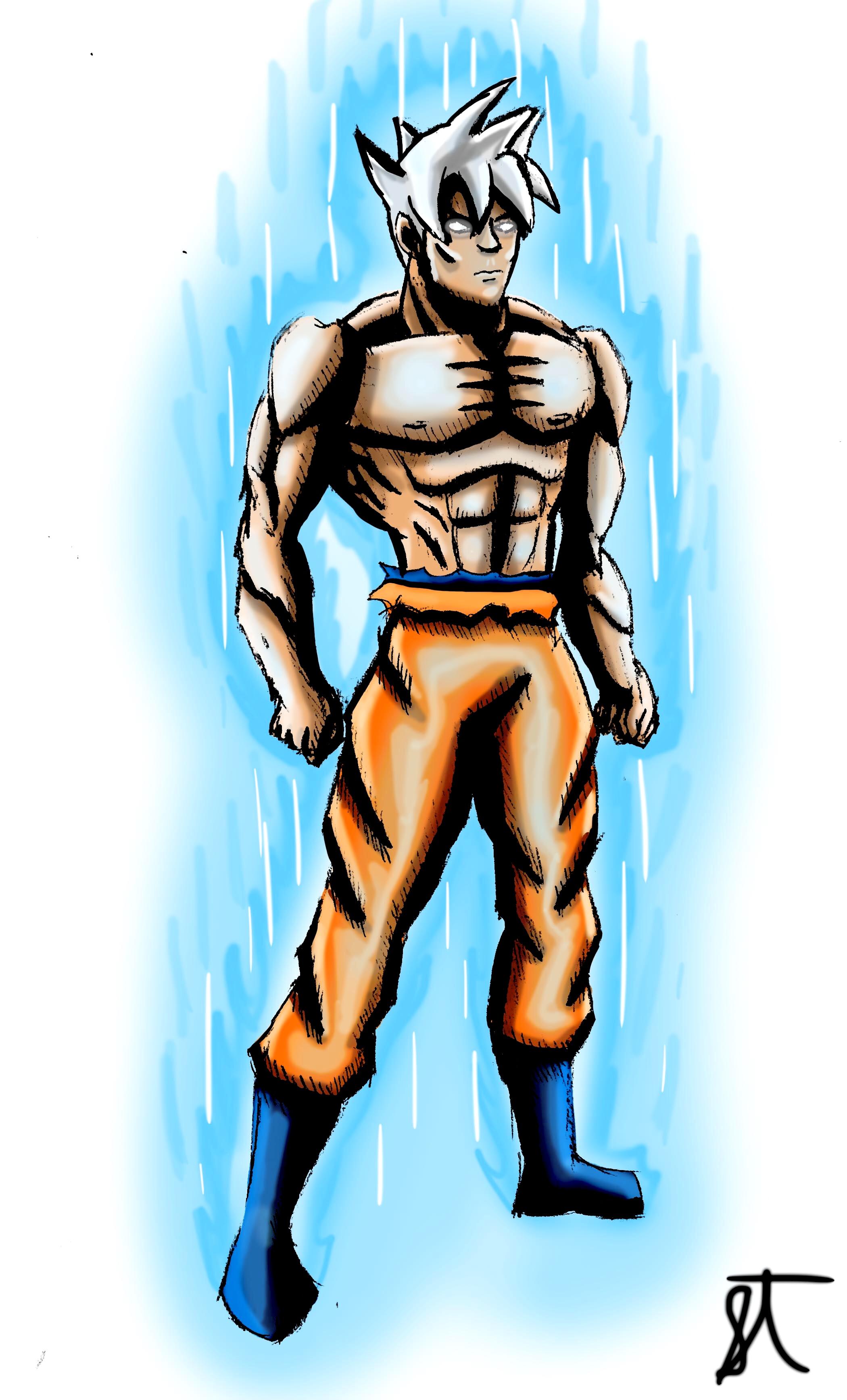 2100x3471 Western Style Goku