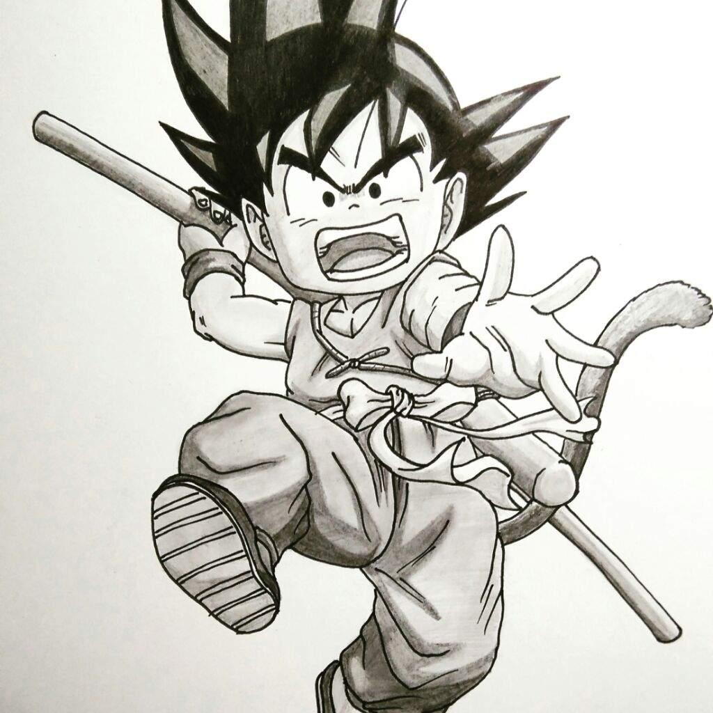 1024x1024 Drawing Kid Goku Dragonballz Amino