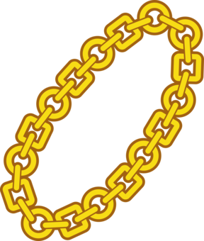 288x340 Drawing Chain Gold Necklace Cc0