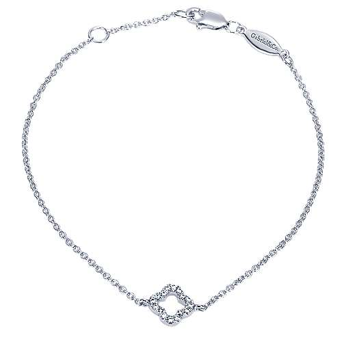 500x500 White Gold Contemporary Chain Bracelet Gabriel