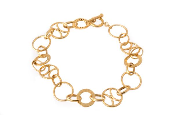 599x397 Karine Sultan Antiqued Gold Chain Collar Necklaceracelet
