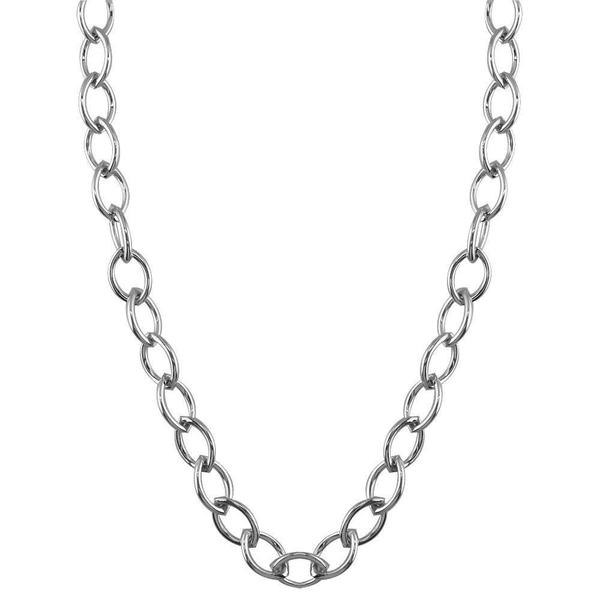 600x600 Marquise Link Chain In White Gold, Sziro Jewelry
