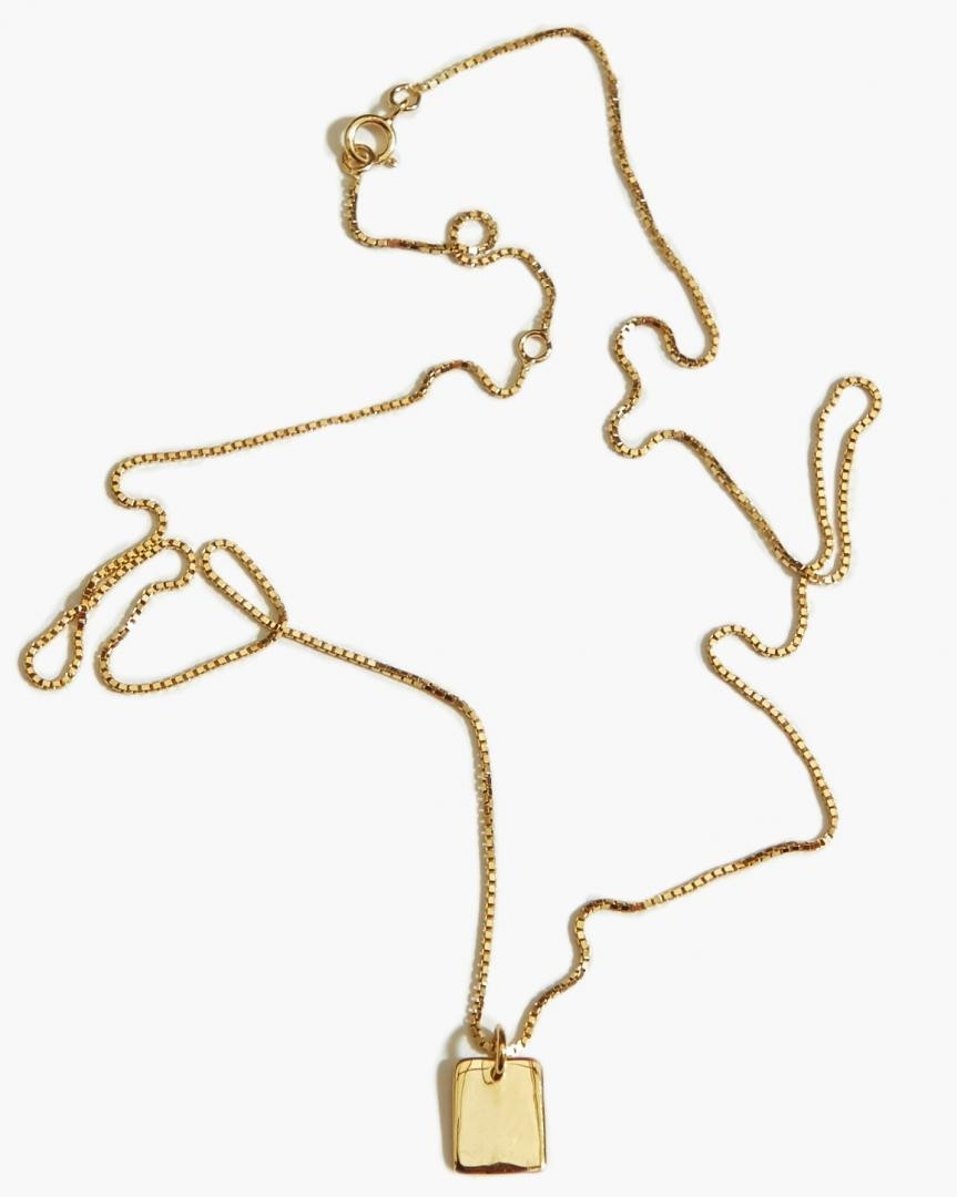 863x1080 Rectangle Long Necklace Gold Plated Fashionology