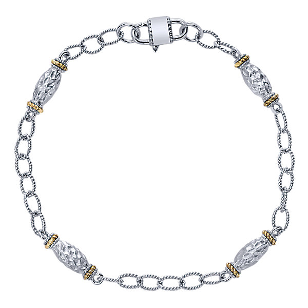 600x600 Sterling Silver And Yellow Gold Chain Bracelet