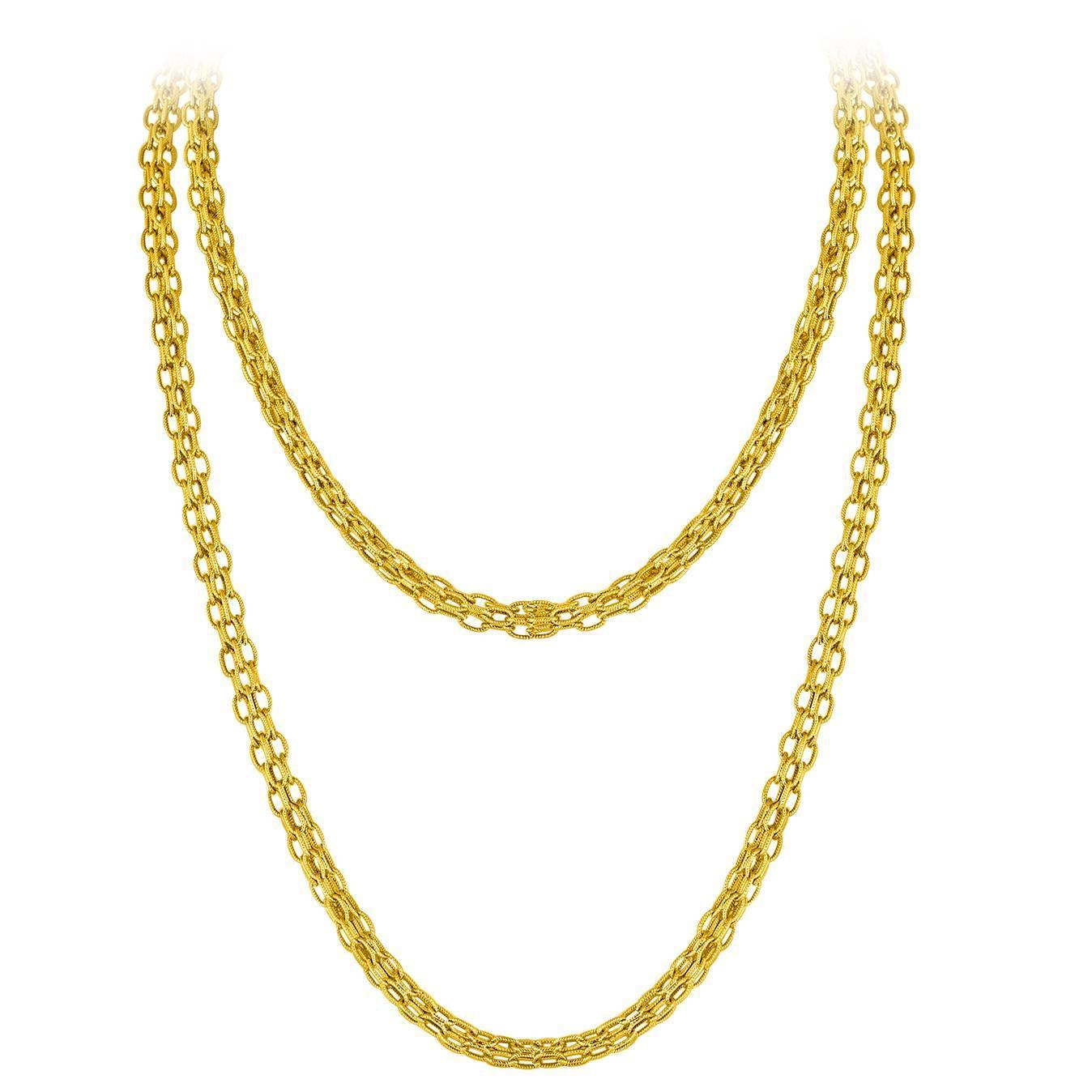1348x1348 Tiffany And Co Estate Gold Chain Necklace For Sale