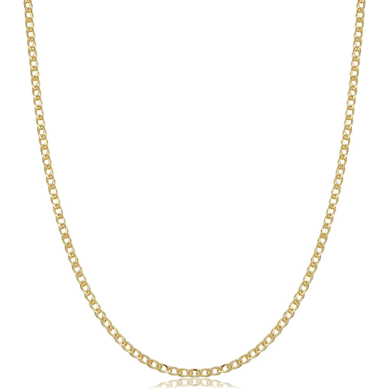 1500x1500 Kooljewelry Yellow Gold Flat Double Wheat Chain