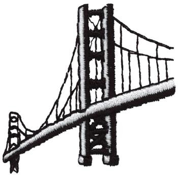 350x350 Golden Gate Bridge Embroidery Designs, Machine Embroidery Designs