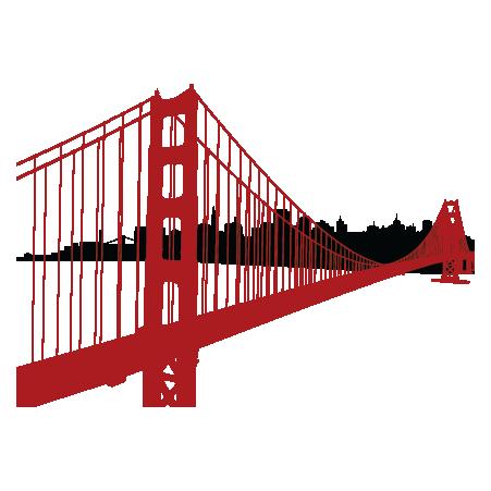 451x451 Golden Gate Bridge Clip Art
