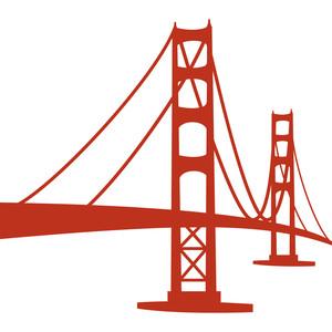 300x300 Golden Gate Bridge Clipart