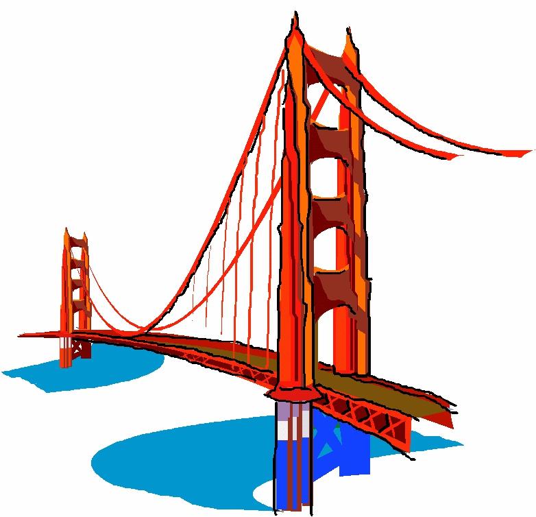 782x754 Golden Bridge Clipart