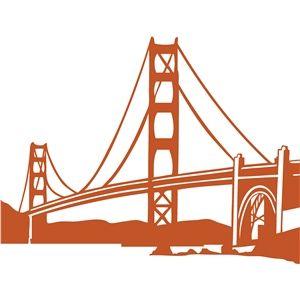 300x300 Golden Gate Bridge Images Silhouette Design, Silhouette
