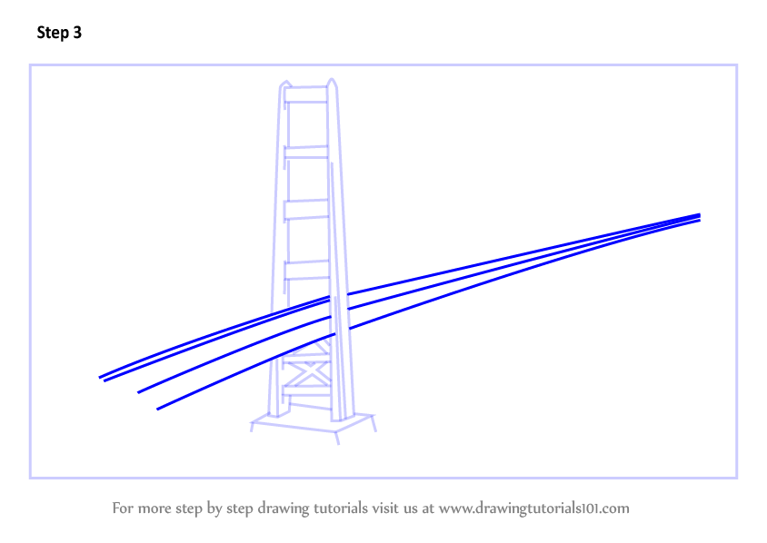 844x598 Learn How To Draw The Golden Gate Bridge