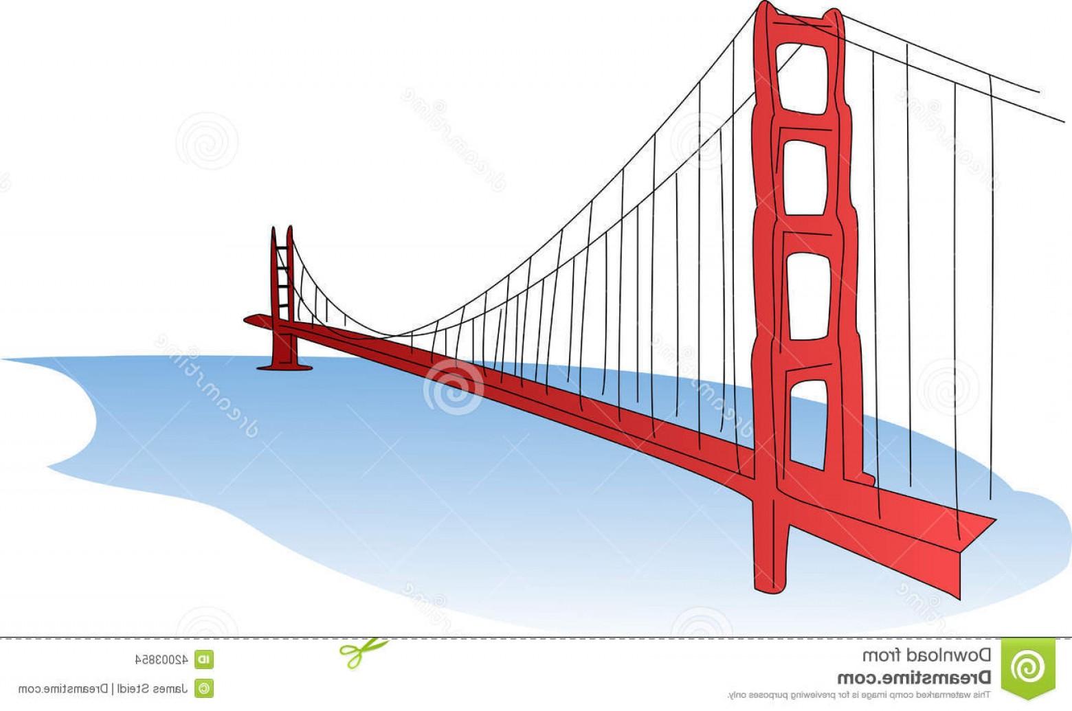 1560x1035 Stock Illustration Golden Gate Bridge Illustration Suspension