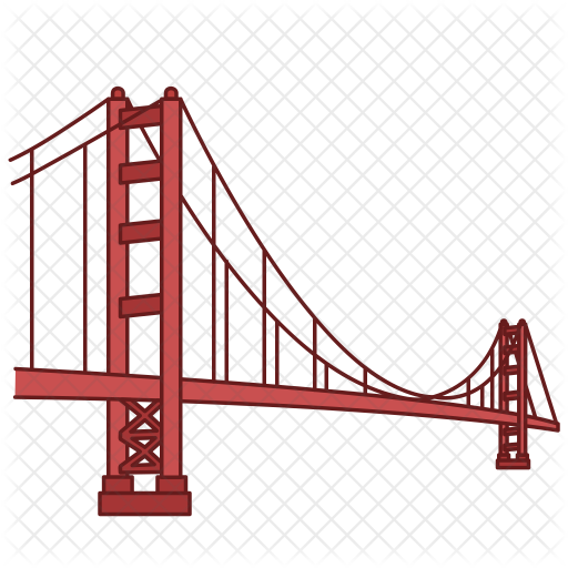 512x512 Golden Gate Bridge Cartoon Transparent Png Clipart Free Download