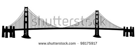 450x158 Golden Gate Bridge Clipart Black And White