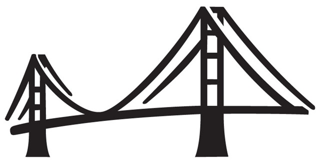 640x324 Golden Gate Bridge Icon Clip Art