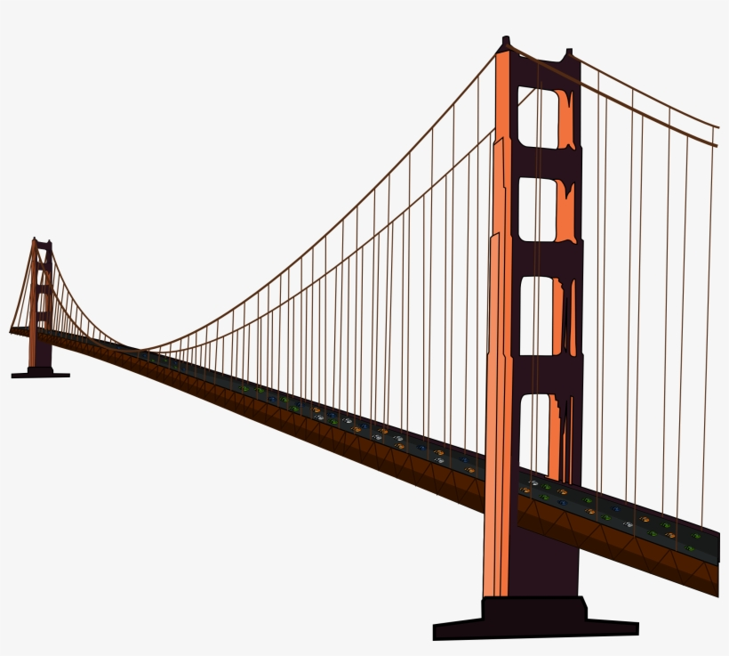 820x737 Simple Golden Gate Bridge Clipart