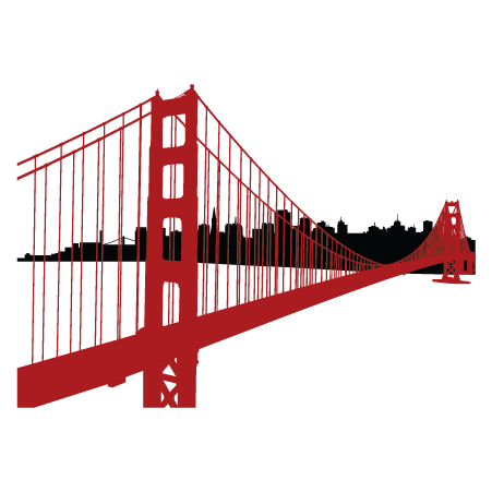 451x451 Simple Golden Gate Bridge Png Transparent Simple Golden Gate