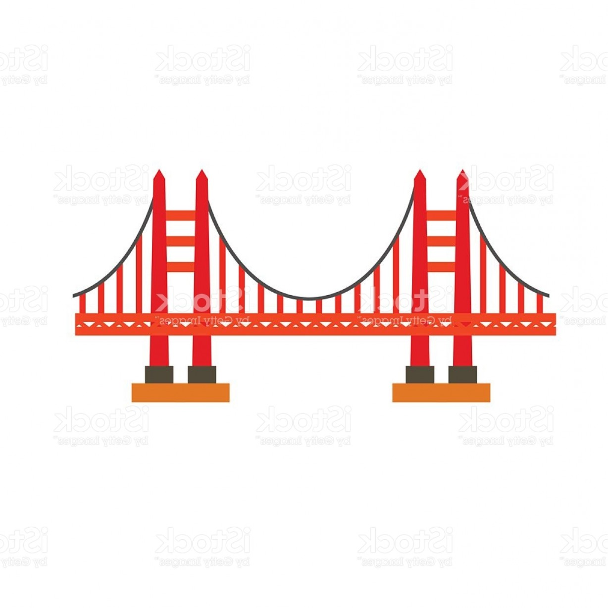 1228x1228 Vector Clipart Golden Gate Bridge