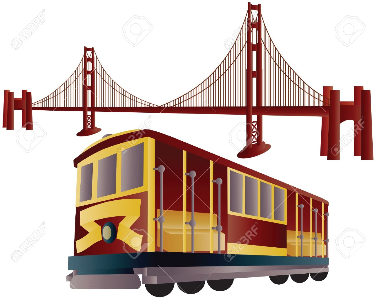 1300x1036 Color Clipart Free Golden Gate Bridge