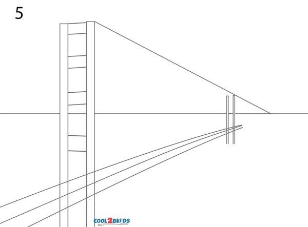 600x443 Golden Gate Bridge Drawing