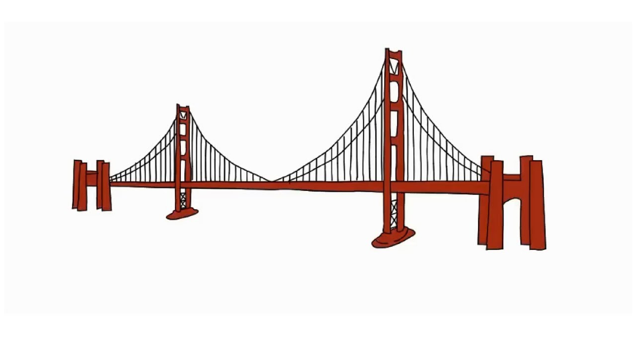 1280x720 How To Draw The Golden Gate Bridge